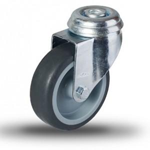 Serija JDPE/BDPE LT– kolesa za stojala s termoplastično gumo in pocinkanim ohišjem brez pokrovčkov