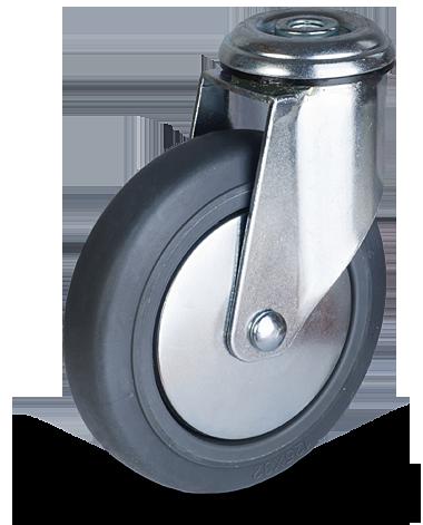 Serija JEPE/BEPE – kolesa za nakupovalne vozičke s termoplastično gumo in pocinkanim ohišjem – majhna nosilnost