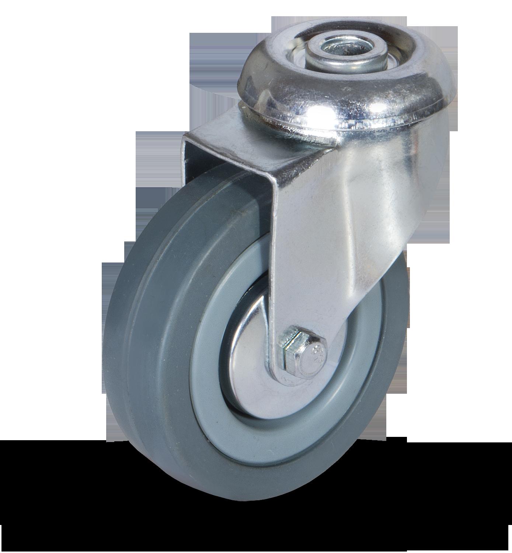Serija JDPG/BDPG – kolo s sivo gumo in pocinkanim ohišjem – majhna nosilnost