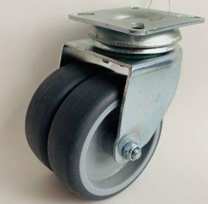Serija JDPE/BDPE TWIN 75 – termoplastična gumijasta kolesa s pocinkanim ohišjem