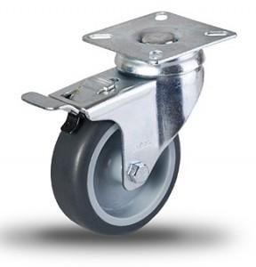 Serija JDPE/BDPE – lahka kolesa za ustanove s sivo gumo in pocinkanim ohišjem brez pokrovčkov – majne nosilnosti