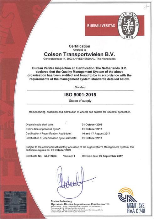 Certifikati ISO 9001:2015