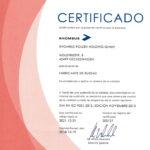 Certifikati transportna kolesa Rhombus