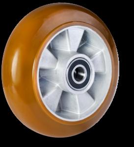 Serija AU Ergoforma - aluminij poliuretan kolo z zaobljeno tekalno površino - Colson Slovenija
